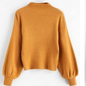 NWT Orange Funnel Sweater